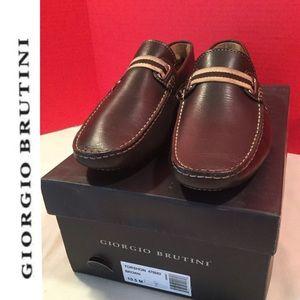 Giorgio Brutini slip-on leather size 10 1/2 brown